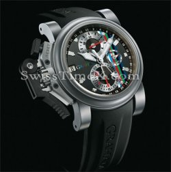 Graham Chronofighter Oversize Titanium Placcato